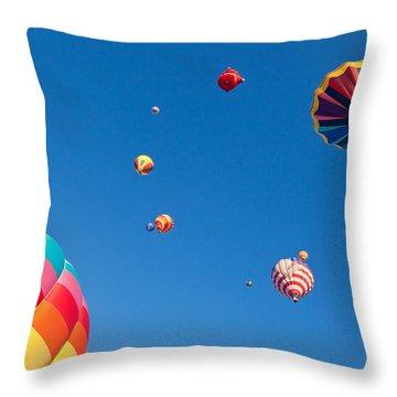 Hot Air Balloons 9 Throw Pillow by Nicolas Raymond