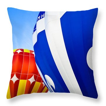Hot Air Balloons Close-up Throw Pillow