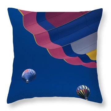 Hot Air Balloons Throw Pillow by Greg Vaughn - Printscapes