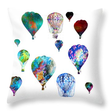 Throw Pillow featuring the photograph Hot Air Balloons by Michael Colgate