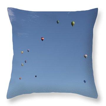Hot Air Rising  Throw Pillow