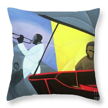 Hot And Cool Jazz Throw Pillow by Kaaria Mucherera