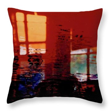 Hot And Cool Throw Pillow