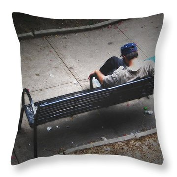 Hot And Homeless Throw Pillow by Brian Wallace