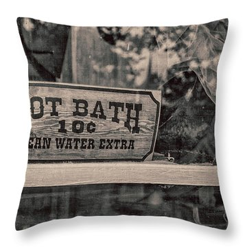 Hot Bath Throw Pillow