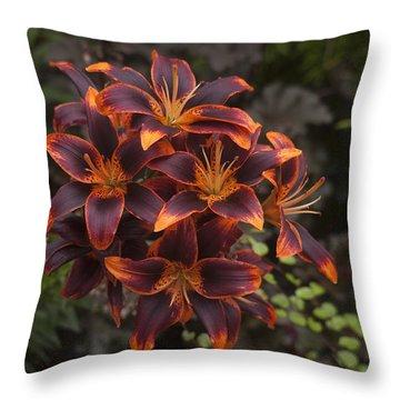 Hot Bouquet Throw Pillow