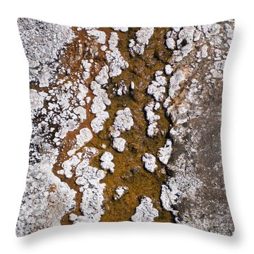 Hot Cascades Abstract Throw Pillow