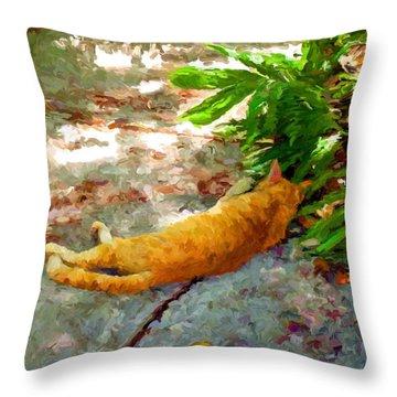 Hot Cat Throw Pillow