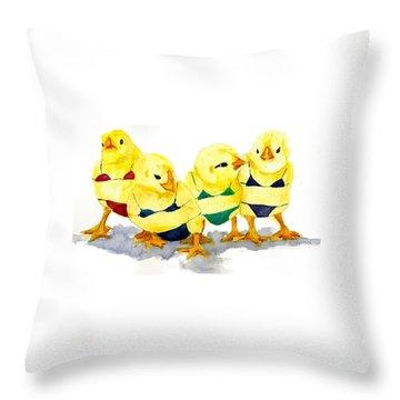 Hot Chicks...henpecking Not Allowed Throw Pillow