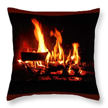 Hot Coals Throw Pillow