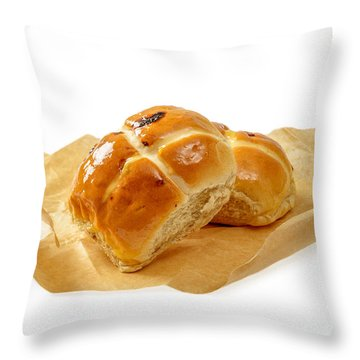 Hot Cross Buns Throw Pillow