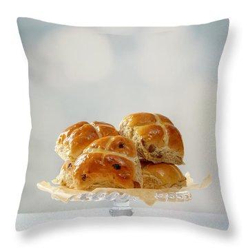 Hot Cross Buns Display Throw Pillow