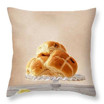 Hot Cross Buns With Butter Throw Pillow