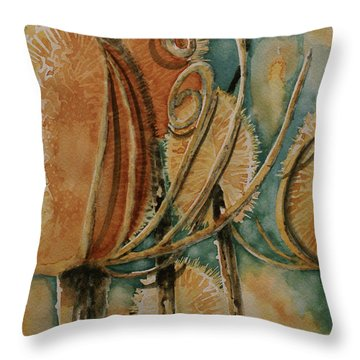 Throw Pillow featuring the painting Hot Desert Sun by Cynthia Powell