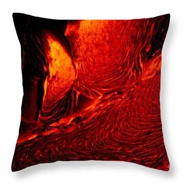 Hot Flowing Lava Throw Pillow by Bob Abraham - Printscapes