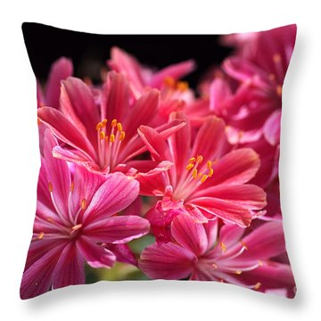 Hot Glowing Pink Delight Of Flowers Throw Pillow