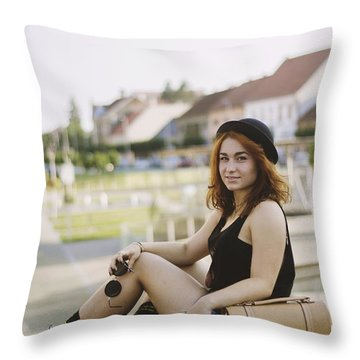 Hot In The City Throw Pillow