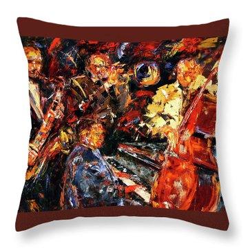 Hot Jazz 2 Throw Pillow by Debra Hurd