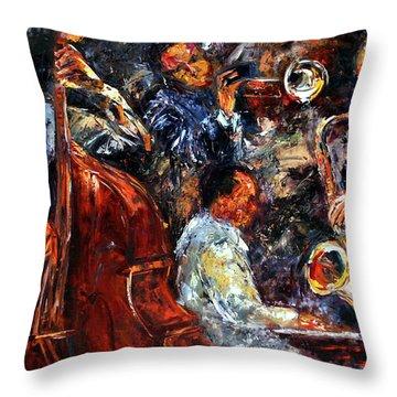 Hot Jazz Three Throw Pillow by Debra Hurd