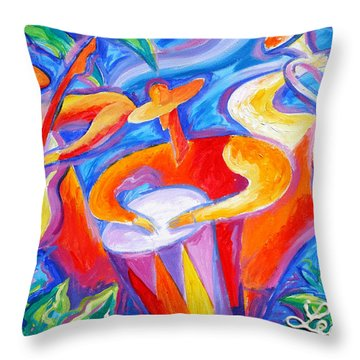 Hot Latin Jazz Throw Pillow