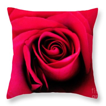 Hot Lips Throw Pillow by Molly McPherson