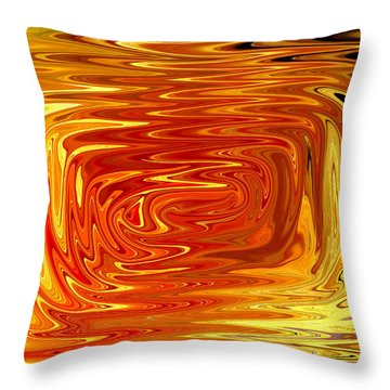 Throw Pillow featuring the digital art Hot by Mary Bedy