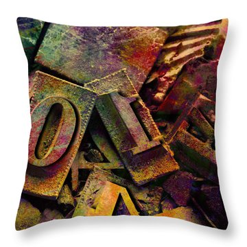 Hot Metal Type Throw Pillow