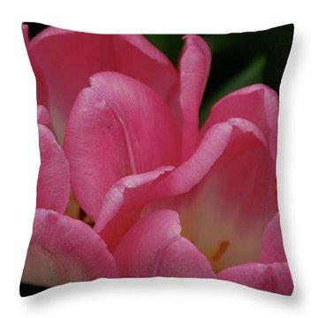 Hot Pink Tulip Throw Pillow