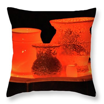 Throw Pillow featuring the photograph Hot Pots by Skip Willits