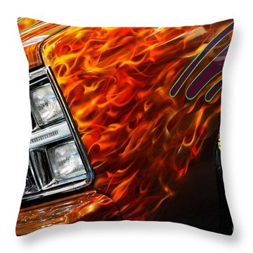 Hot Rod Chevrolet Scotsdale 1978 Throw Pillow by Oleksiy Maksymenko