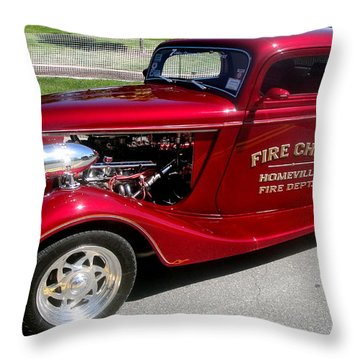 Hot Rod Chief Throw Pillow