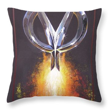 Throw Pillow featuring the painting Hot Rod Power  by Alan Johnson