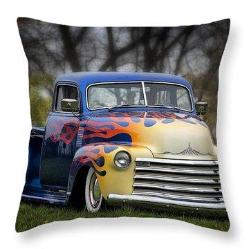 Hot Rod Truck Throw Pillow