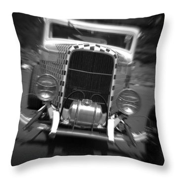 Hot Rods At Pendine 11 Throw Pillow