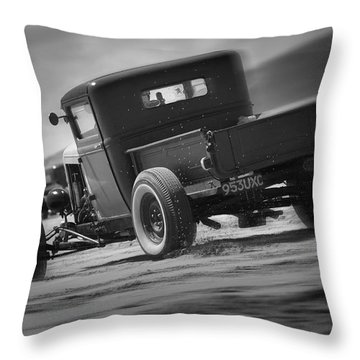 Hot Rods At Pendine 13 Throw Pillow