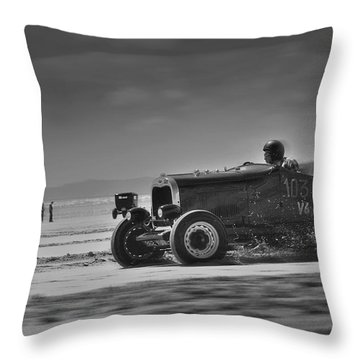 Hot Rods At Pendine 14 Throw Pillow