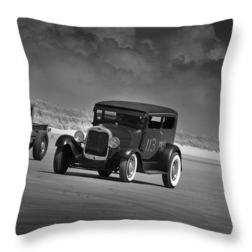 Hot Rods At Pendine 15 Throw Pillow