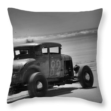 Hot Rods At Pendine 12 Throw Pillow