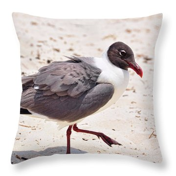 Throw Pillow featuring the photograph Hot Sand by Jan Amiss Photography