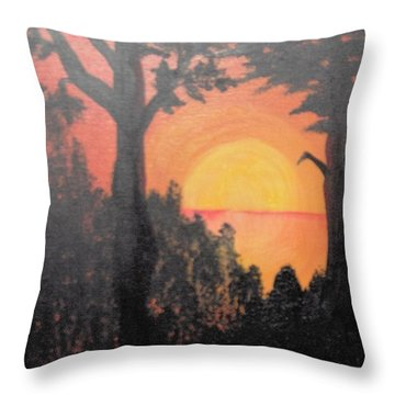 Throw Pillow featuring the painting Hot by Saundra Johnson