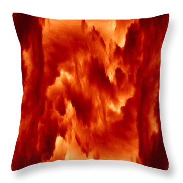 Hot Space Throw Pillow by Michal Boubin