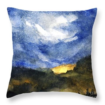 Hot Spots In Our Mountains Tonight Throw Pillow