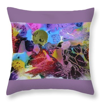 Throw Pillow featuring the painting Hot Stuff by Mary Sullivan