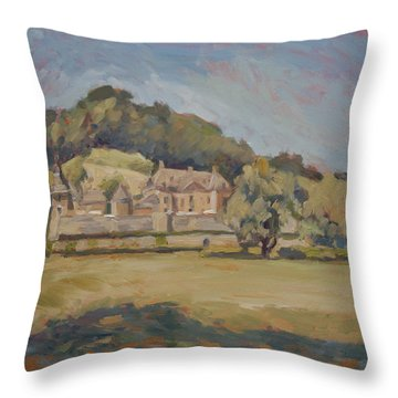 Hot Summer Day At Chateau Neercanne Throw Pillow