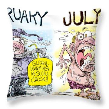 Hot Summer Global Warming Throw Pillow