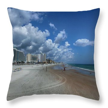 Hot Times In The Summertime Throw Pillow by Judy Hall-Folde