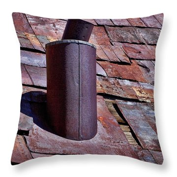 Hot Tin Roof Throw Pillow by Kelley King