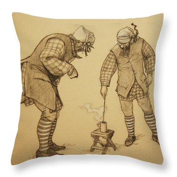 Hot Toddy Throw Pillow