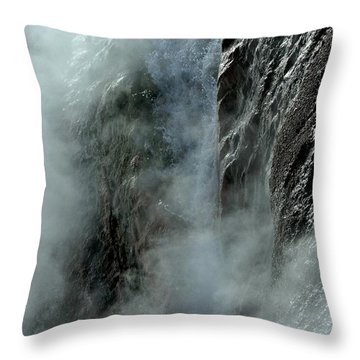 Hot Water Into Cold Makes Steam Throw Pillow