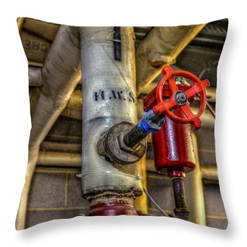 Hot Water Supply Throw Pillow